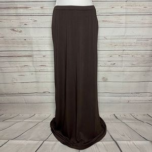 Worthington Maxi Skirt Brown Size Medium